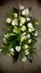 bloemstuk langwerpig witcreme