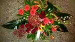 bloemstuk rodetinten klein