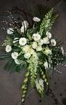 bloemstuk grillig wit katjes gerbera violier