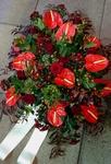 bloemstuk rood anthureum