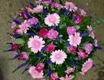 bloemstuk roze lila rond